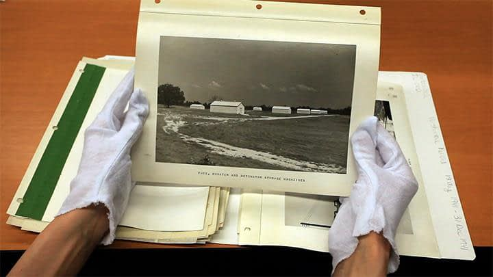 Vintage Photograph of Bunkers