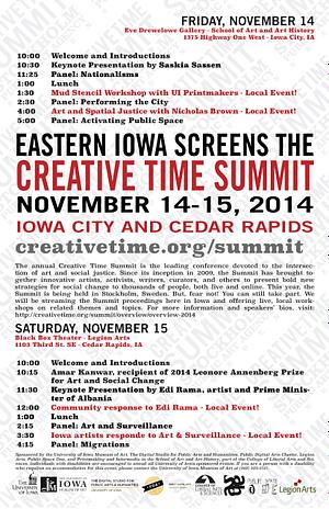 Eastern Iowa Screens the Creative Time Summit