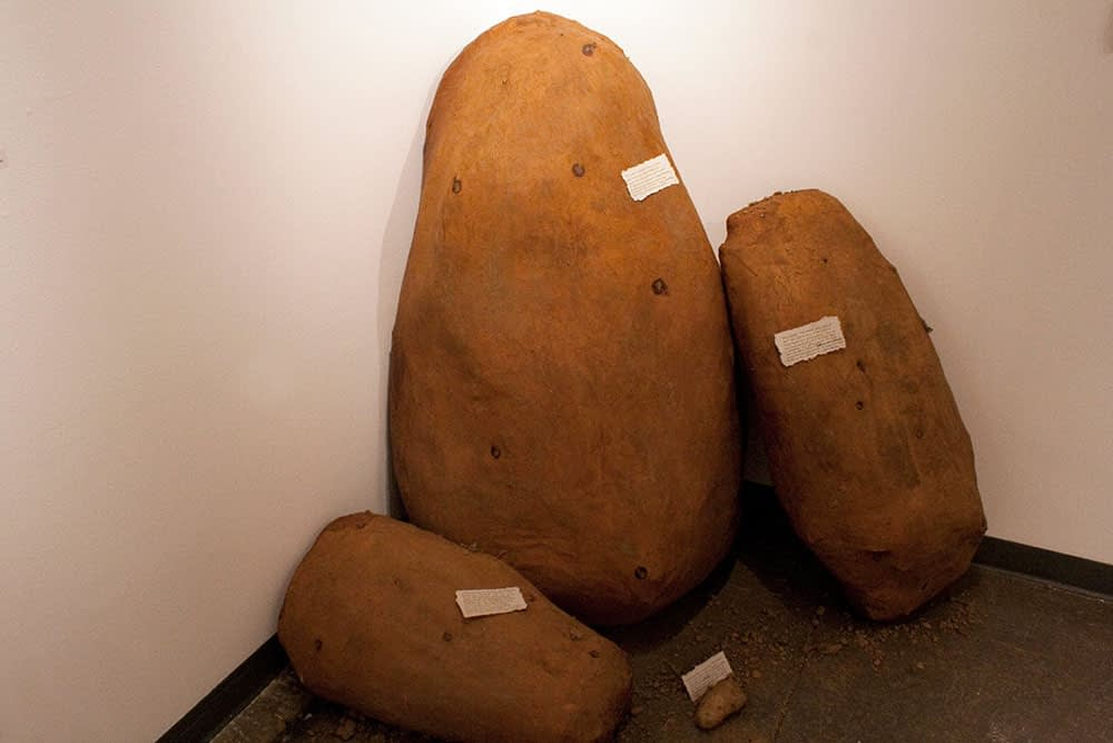 Three very large models of potatoes