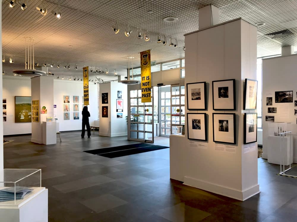 Image of art exhibition in a gallery