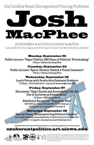 Josh MacPhee Campus Visit Poster