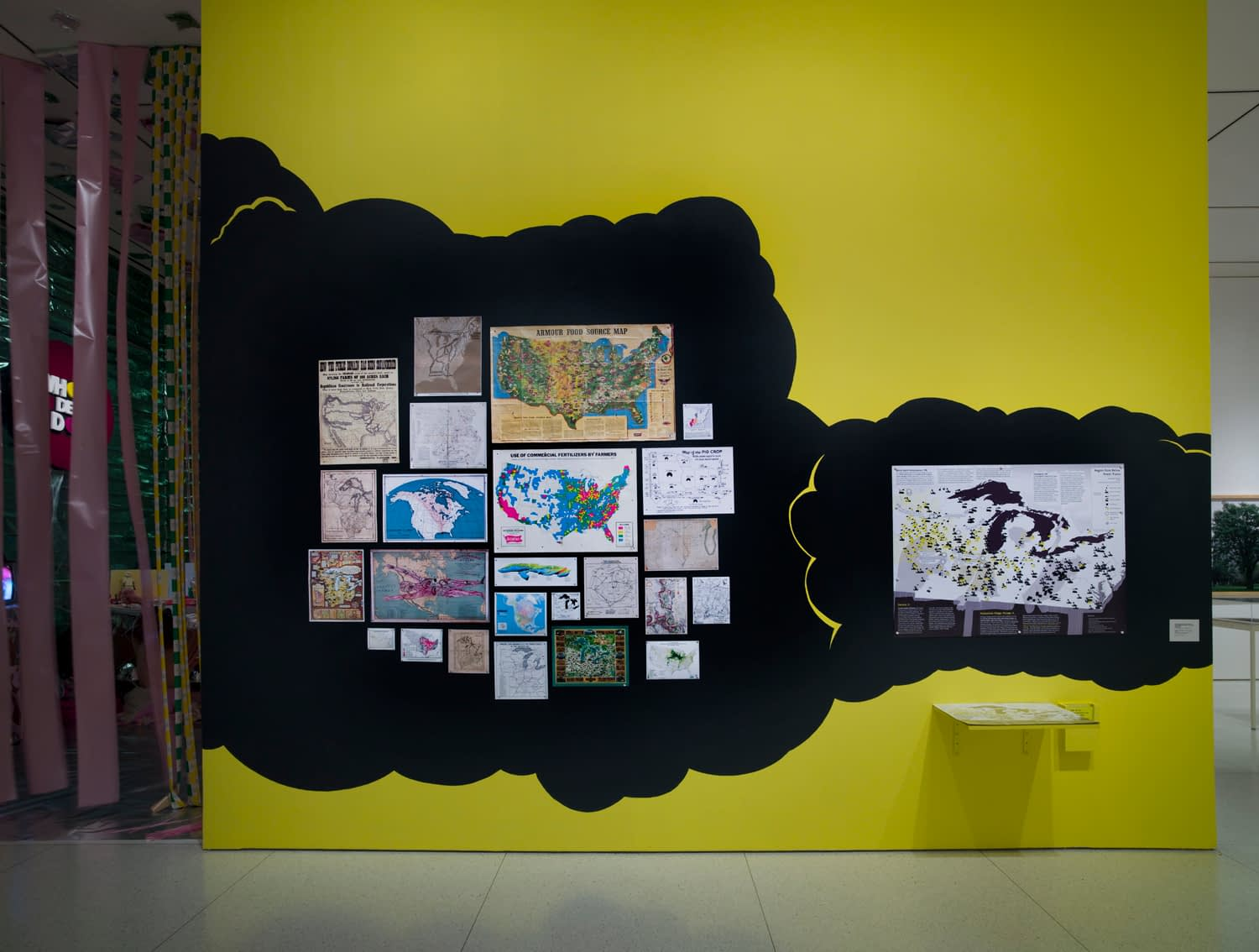 """Installation at """"Heartland"""" exhibition at the Smart Museum of Art, 2009"""